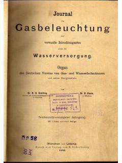 Journal fur Gasbeleuchtung und Wasserversorgung. Журнал по газовому освещению и водоснабжению