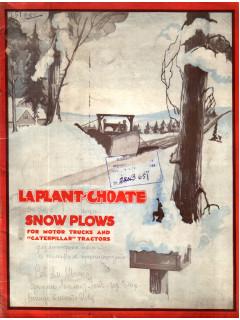 Laplant-choate snow plows for motor trucks and «caterpillar» tractors ( Фирма Лаплант Чоут. Снежные плуги для моторных тягачей и тракторов гусеничного типа)