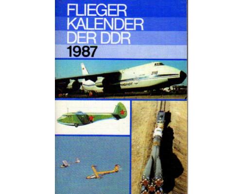 Flieger kalender der DDR. 1987. Авиационный альманах 1987 года