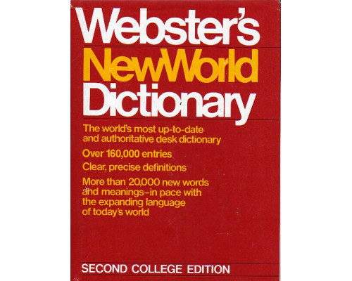 Websters New World Dictionary of the American Language