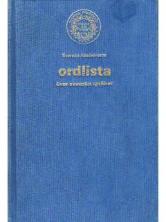 Ordlista over svenska spraket. Словарь английского языка