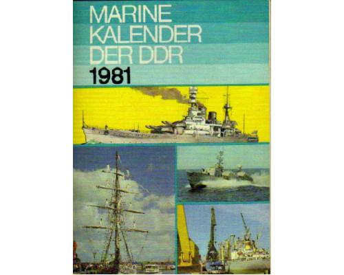 Marine-kalender der DDR 1975. Морской альманах ГДР 1975 года