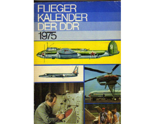 Flieger kalender der DDR. 1975. Ежегодник. Авиация ГДР. 1975 год