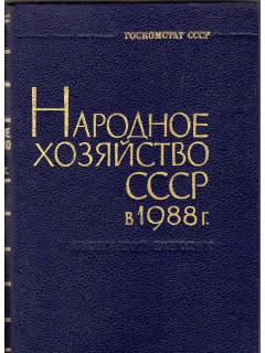 Народное хозяйство СССР в 1988 г. Статистический ежегодник. Госкомстат СССР.